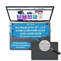 MacBook Pro 13ınch HardCase TouchBar A1706 A1708 A1989 A2159 A2251 A2289 A2338  Kılıf Crystal Star