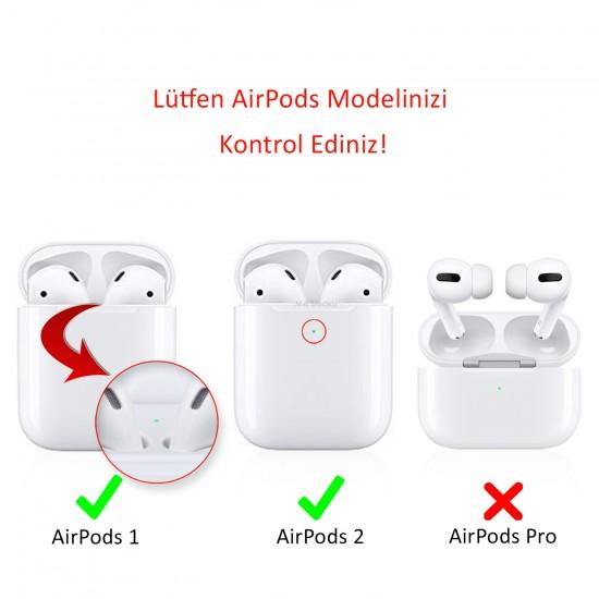 AirPods Kılıf Koruyucu Case 2MM Silikon Yedek Kapak Hediyeli PT88-Z