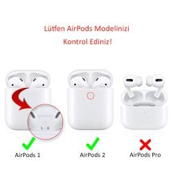 AirPods Kılıf Koruyucu Case Silikon Paslanmaz Kemer Klips Yedek Kapak Hediyeli PT86Z