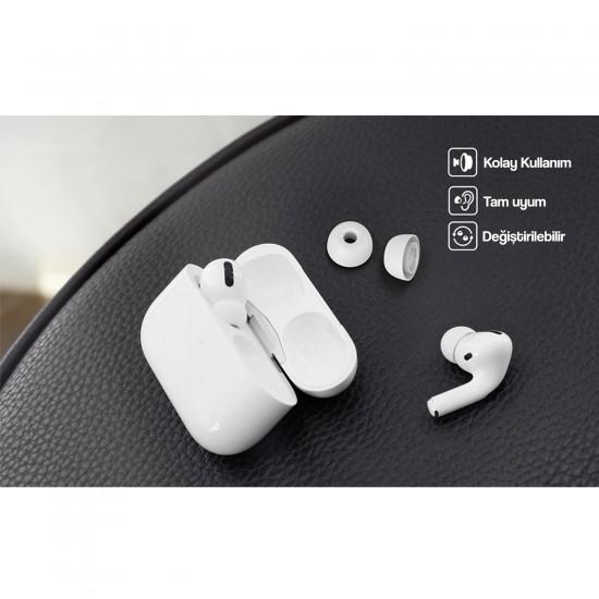 AirPods Pro EarPodsPro Kılıfı Kulaklık içi Kılıf 2 Çift 0,5MM Kalınlık Daha Net Müzik Daha İyi Kavrama