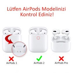 AirPods Temizleme Kulaklık Kirine Tozuna Son Koruyucu Sticker 0.04M 2.Nesil Uyumlu