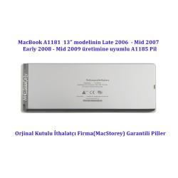 MacBook Pro Batarya 13inc Pil A1181 Modeline Uyumlu A1185 Pili