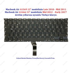 "Apple MacBook Air 13"" A1369 A1466 Klavye Tuş Takımı TR Türkçe"