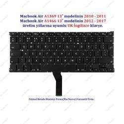 Apple MacBook Air 13 A1369 A1466 Klavye Tuş Takımı UK İngilizce