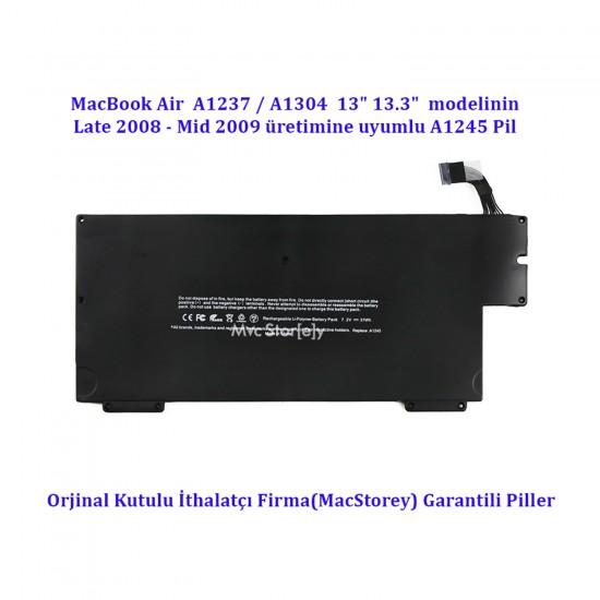 """Apple Macbook Air A1237 13"""" A1304 Bataryası Pili Late 2008 Mid 2009 A1245 Batarya"""