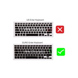 Laptop MacBook Air Klavye Koruyucu 11inc A1370 A1465 Uyumlu Arapça Baskılı UK Arabic