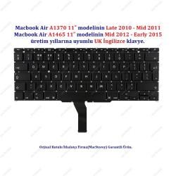 Apple MacBook Air  A1370 /A1465 11 UK İngilizce Klavye Tuş Takımı