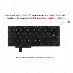 """Apple MacBook Pro 17"""" A1297 US İngilizce Klavye Tuş Takımı"""