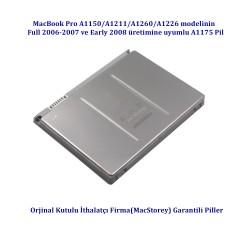 """Apple MacBook Pro  A1150 A1211 A1260 A1226 15""""  Pili Bataryası A1175 Full 2006/2007 Pil Batarya"""