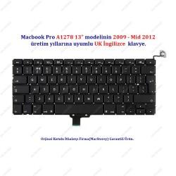 """Apple MacBook Pro13"""" A1278 Klavye Tuş Takımı UK İngilizce"""