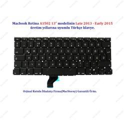 """Apple MacBook Retina 13"""" A1502 Klavye Tuş Takımı TR Türkçe"""