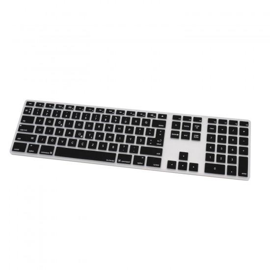 Apple Magic Keyboard 1 Klavye Koruyucu F Dizilim Türkçe Baskı Numerik Silikon Daktilo Tipi