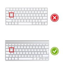 Apple Magic Keyboard 1 Klavye Koruyucu F Dizilim Türkçe Baskı Silikon Daktilo Tipi