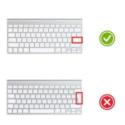 Apple Magic Keyboard 1 Klavye Koruyucu US İngillizce Türkçe Baskı Silikon Klavye Koruyucu