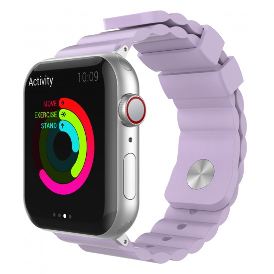 Apple Watch 6-5-4-3 Kordonu Kayışı 38-40MM Yumuşak Doku Alerjen İçermez Malzeme WA02