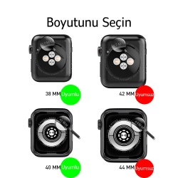 Apple Watch 6-5-4-3 Koruyucu 38/40mm Kordon ve Ekran Kılıfı