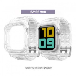 Apple Watch 6-5-4-3 Koruyucu 42/44mm Kordon ve Ekran Kılıfı