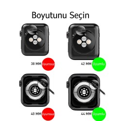 Apple Watch 6-5-4-3 Koruyucu 42/44mm Kordon ve Ekran Kılıfı