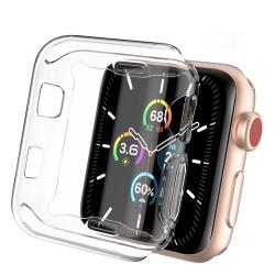 Apple Watch 6-5-4-3 Tek Parça Ekran ve Kasa Koruyucu TPU 2 Adet