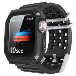Apple Watch 6-5-4-3 38MM-40MM Kordon Kayış Komple Kasa Koruyucu OutDoor Kılıfı Rugged