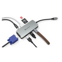 HDMI VGA Çevirici SD MicroSD Kart Okuyucu 4K HDMI USB3.1 Çogaltıcı Type-C Çevirici