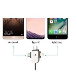 İphone Lightning Samsung Type-C Android MicroUSB Şarj İstasyonu Adaptör