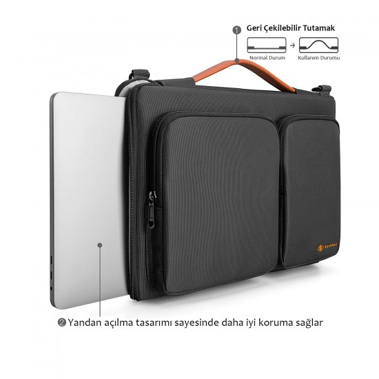 Laptop Bilgisayar Evrak Çantası 13 14 inch Omuz Askılı Kadın Erkek Evrak Çantası