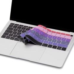 Laptop MacBook Air 13inc Klavye Koruyucu A1932 2018/2019 Uyumlu İngilizce-Türkçe Baskılı Ombre