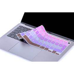 Laptop MacBook Air 13inc Klavye Koruyucu A2179 A2337 2020 2021 Uyumlu Türkçe Baskılı Ombre