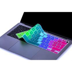 Laptop MacBook Air 13inc Klavye Koruyucu A2179 A2337 2020 2021 Uyumlu Türkçe Baskılı Silikon Kılıf