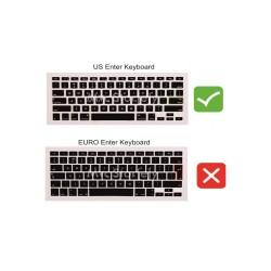 Laptop MacBook Air Klavye Koruyucu 11inc A1370 A1465 Uyumlu İngilizce Türkçe Baskılı
