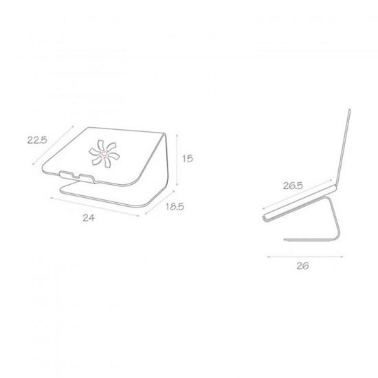 Laptop MacBook Notebook Standı Masaüstü Telefon Tutuculu Bilgisayar Standı