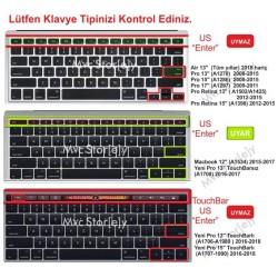 Laptop MacBook Pro Klavye Koruyucu 13inc A1708 12inc A1534 Uyumlu Amerika İngilizce Baskı Dazzle