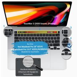 Laptop MacBook Pro Klavye Koruyucu 13inc A2251 A2289 A2338 16inc A2141 İngilizce Türkçe Dazzle