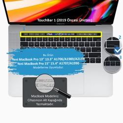 Laptop MacBook Pro TouchBar Klavye Koruyucu A1706 1989 2159 15inc A1707 1990 İngilizce Türkçe Baskı