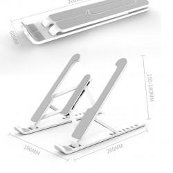 Laptop MacBook Stand Katlanabilir Taşınabilir Hafif Stand Siyah