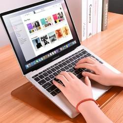 WIWU Laptop MacBook Stand Koruyucu Kese Deri Kılıf Kadın Erkek Laptop Çantası