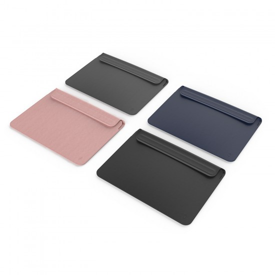 Laptop NoteBook Bilgisayar Çantası Deri İnce Mıknatıslı Kapak MacBook Air A1932 A2179 A2337 13 inc