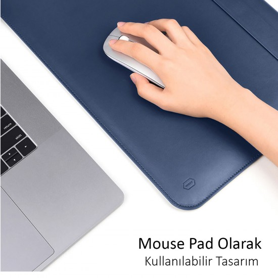 Laptop NoteBook Bilgisayar Çantası Deri İnce Mıknatıslı Kapak MacBook Pro A1706 A1989 A2159 13inc