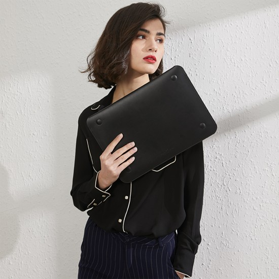 Laptop NoteBook Bilgisayar Çantası Deri İnce Mıknatıslı Kapak MacBook Pro A1707 A1990 15inc TouchBar