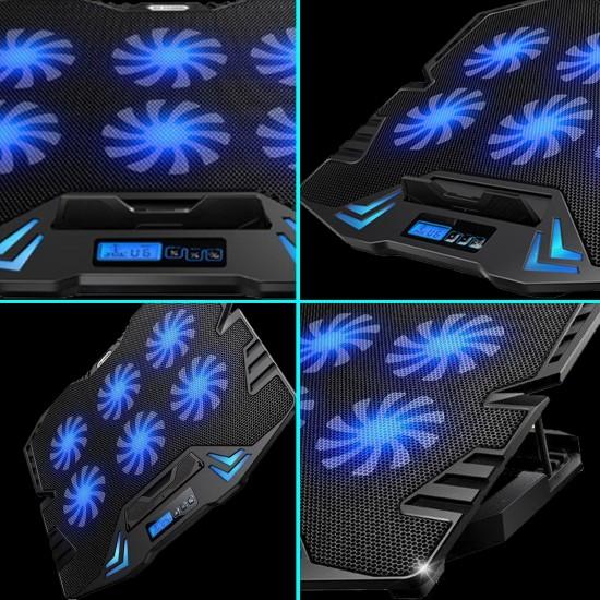 Laptop Soğutucu Fanlı Ledli Ayarlanabilir USB li Notebok Laptop Standı