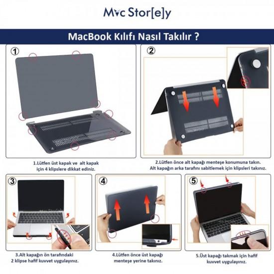 MacBook Air Kılıf 13inc HardCase Touch ID A1932 2018/2019 Uyumlu Kılıf Marble06N