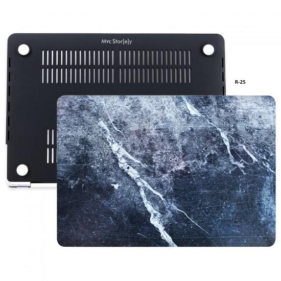 MacBook Air Kılıf 13inc HardCase Touch ID A1932 2018/2019 Uyumlu Kılıf Marble09N