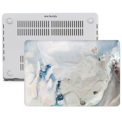 MacBook Air Kılıf 13inc HardCase Touch ID A1932 2018/2019 Uyumlu Kılıf Marble10N