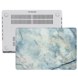 MacBook Air Kılıf 13inc HardCase Touch ID A1932 A2179 A2337 Uyumlu Kılıf Marble11N
