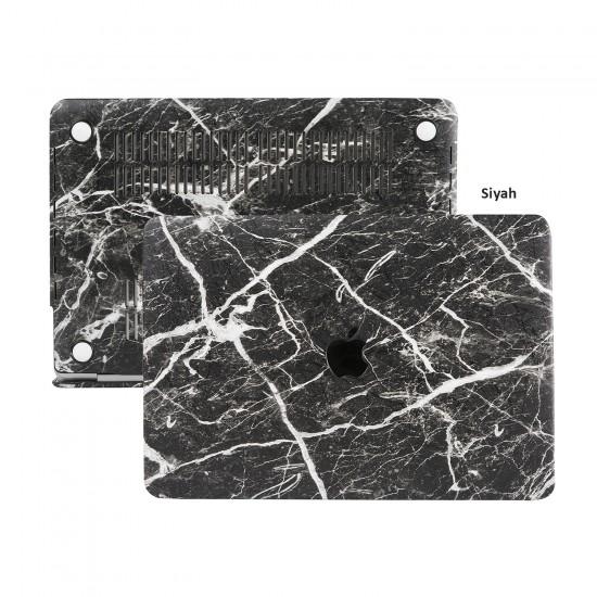 MacBook Air Kılıf 13inc HardCase Touch ID A1932 A2179 A2337 Koruyucu Kılıf F.Marble