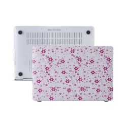 MacBook Air Kılıf 13inc HardCase Touch ID A1932 A2179 A2337 Uyumlu Koruyucu Kılıf Çiçek Desenli QT01