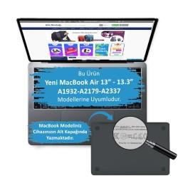MacBook Air Kılıf 13inc HardCase Touch ID A1932 A2179 A2337 Uyumlu Koruyucu Kılıf Mermer Glitter