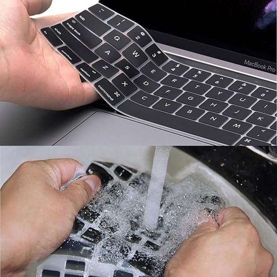 Laptop MacBook Air 13inc Klavye Koruyucu A1932 2018/2019 Uyumlu Amerika İngilizce Baskılı Ombre