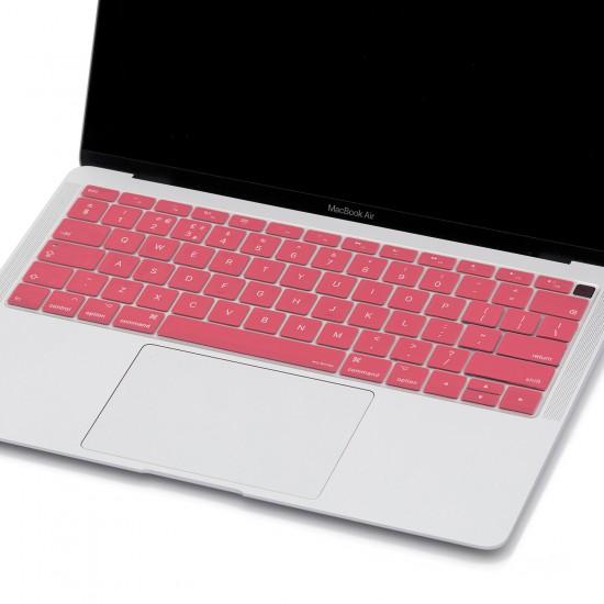 Laptop MacBook Air 13inc Klavye Koruyucu A1932 2018/2019 Uyumlu Amerika İngilizce Baskılı
